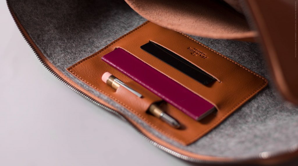 Beautifully crafted leather laptop sleeve
