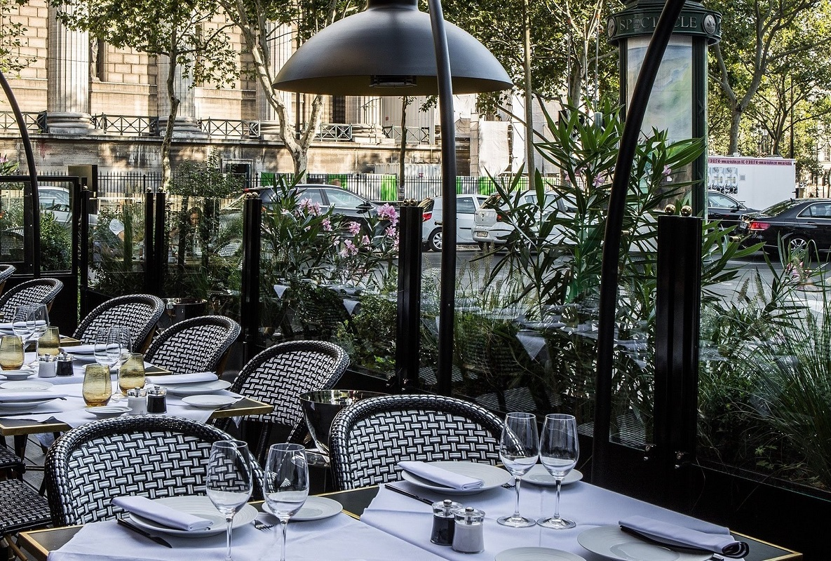 Grand Café Fauchon Terrace tables