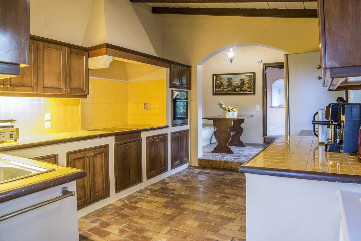 One of the kitchens in the villa