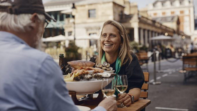 Alfresco dining at The Oystermen Seafood Bar and Kitchen