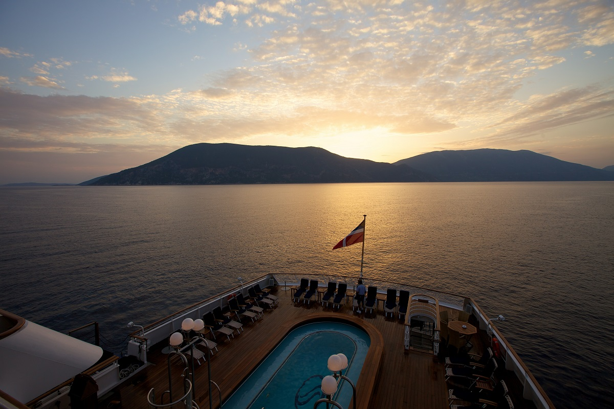 The stern of Seadream - ideal for luxury cruisers