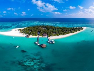 Aerial image of Angsana Resort and Spa in the Maldives