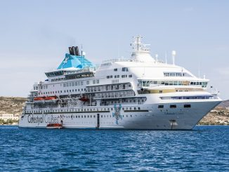 Crystal Cruise Ship from Milos