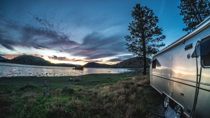 Glamping in a trailor