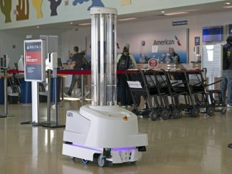 Coronavirus-Fighting Robot at Key West International Airport