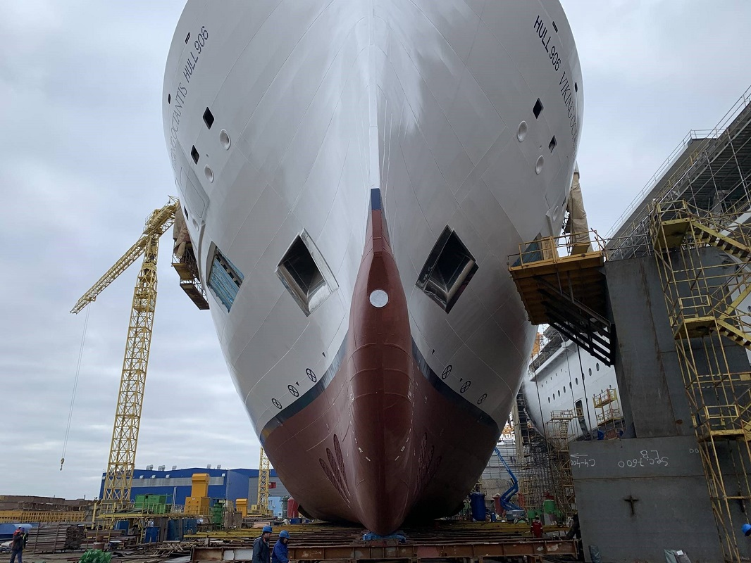 Viking Octantis in dry dock