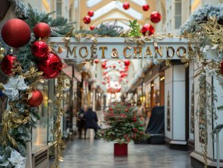 Christmas decorations in Burlington Arcade