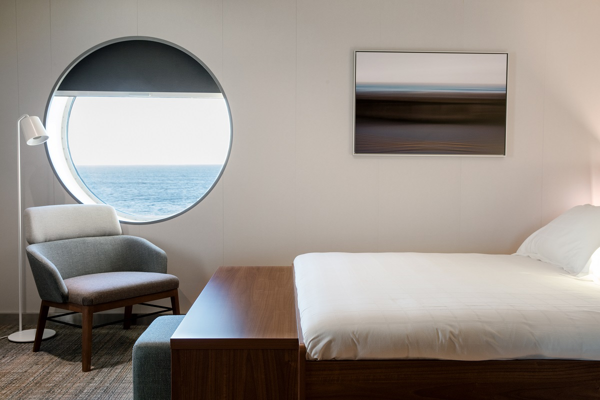 Deluxe cabin bed on Galicia - perfect for a peaceful voyage
