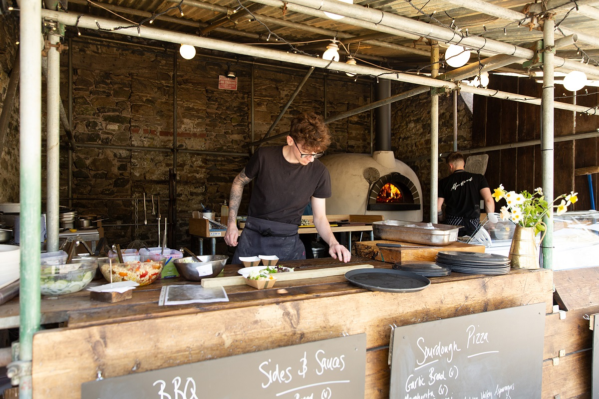 Outdoor Kitchen at The Black Bull